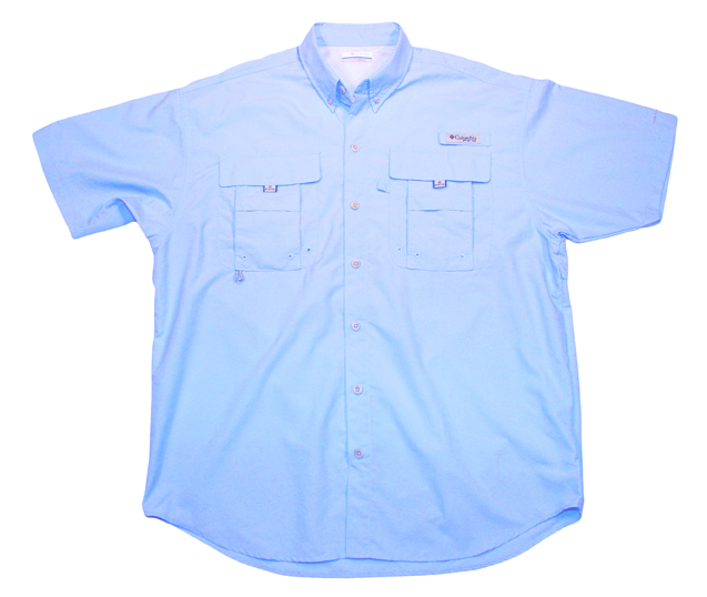 Men's Performance Fishing Shirt Front (blue)