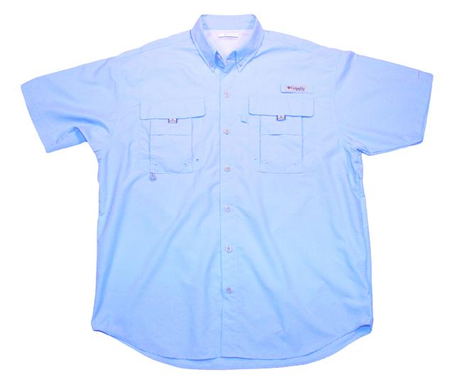 Men's Performance Fishing Shirt Front (blue)