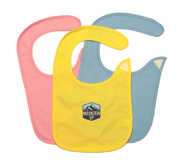 Mountain Up Jersey Bib (pink,yellow,blue)