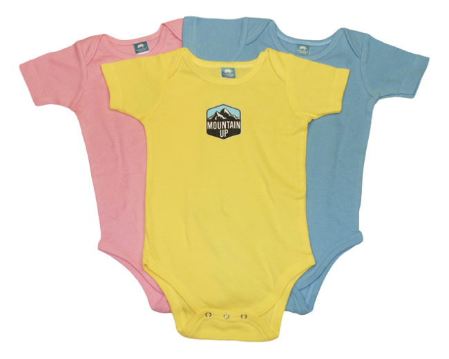 Mountain Up Onesie (pink,yellow,blue)