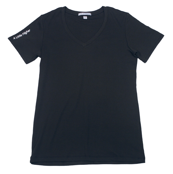 Woman's V-Neck Cotton Tee Front